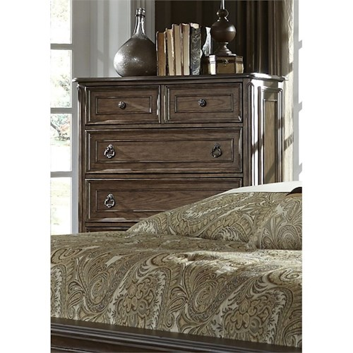 Vendor 5349 Lorraine 5 Drawer Chest with Dovetail Drawers