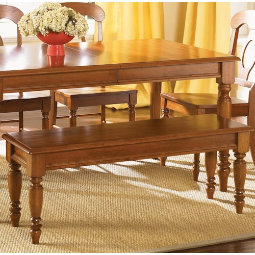 Liberty Furniture Low Country Bench with Turned Legs