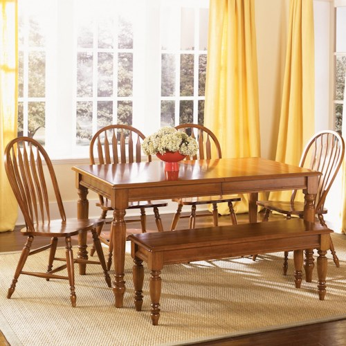 Liberty Furniture Low Country Six Piece Dining Set with Turned Legs