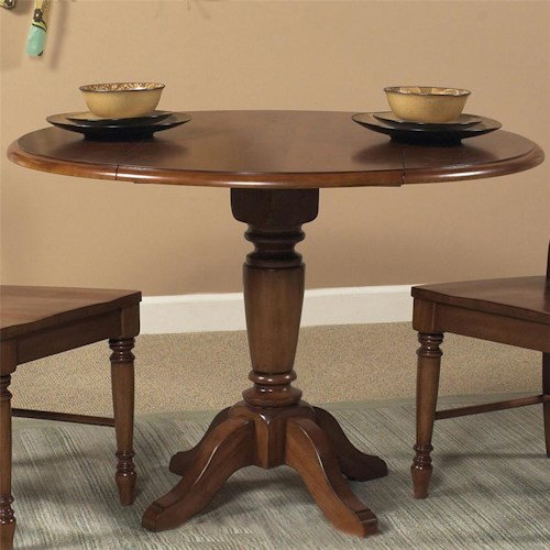 Liberty Furniture Low Country Round Drop Leaf Pedestal Table