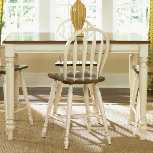 Liberty Furniture Low Country Gathering Table with 18 Inch Butterful Leaf