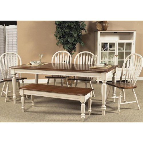 Vendor 5349 Low Country Six Piece Dining Set with Turned Legs