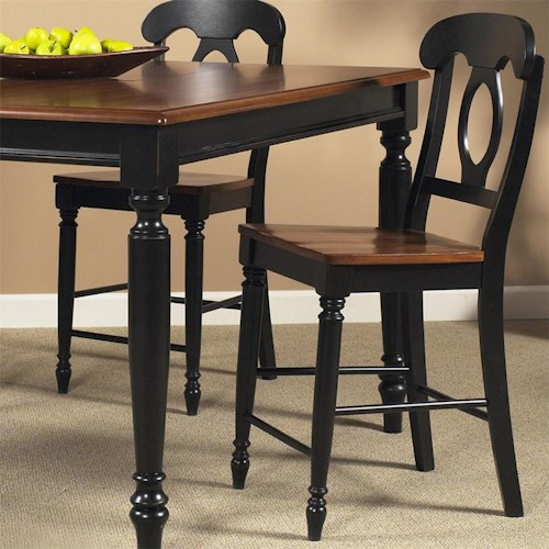 Liberty Furniture Low Country Napoleon Back Barstool with Turned Legs