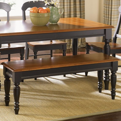 Vendor 5349 Low Country Bench with Turned Legs