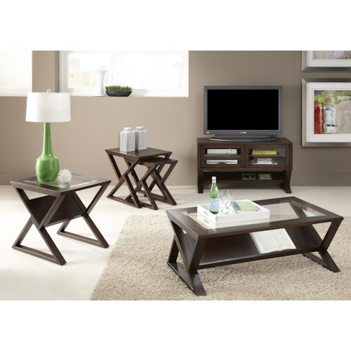 Liberty Furniture Madison 3 Piece Occasional Group Set with 2 End Tables and Cocktails Table