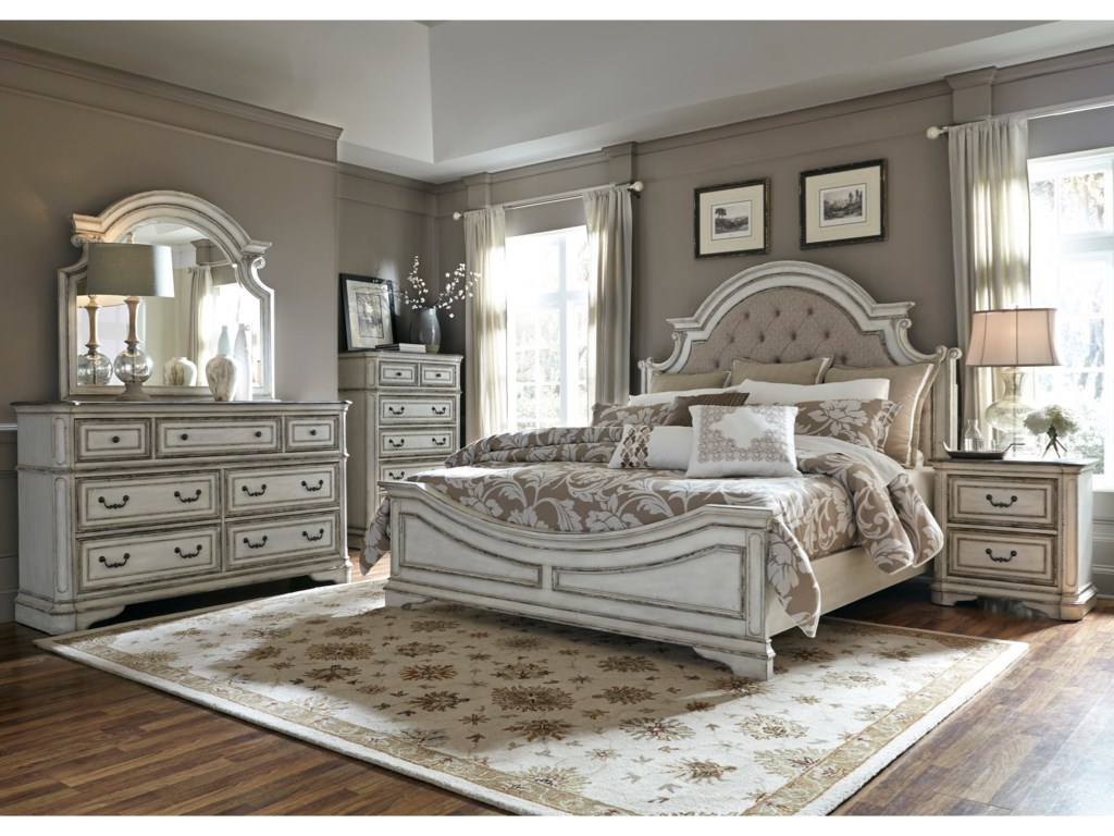 Liberty Bedroom Furniture Liberty Furniture Magnolia Manor Queen Upholstered Bed Great