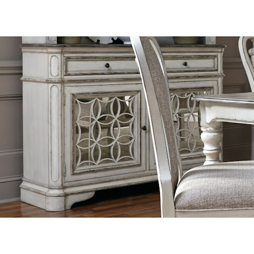 Liberty Furniture Magnolia Manor Dining Dining Buffet with Felt-Lined Drawers