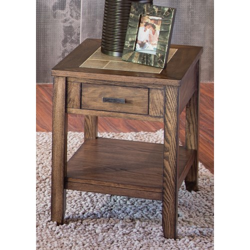 Liberty Furniture Mesa Valley Occasional Chair Side Table with – Liberty Side Chair