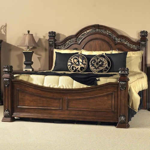Vendor 5349 Messina Estates King Poster Bed