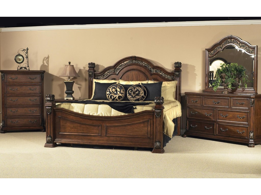 Shown with King Poster Bed and Chest of Drawers
