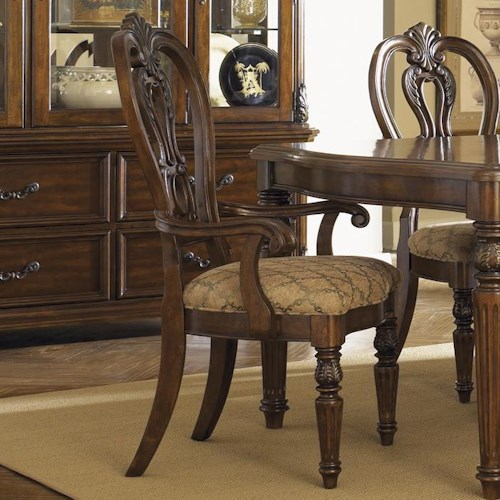 Liberty Furniture Messina Estates Splat Back Dining Arm Chair
