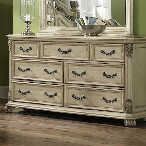 Liberty Furniture Messina Estates II Traditional 7 Drawer Dresser