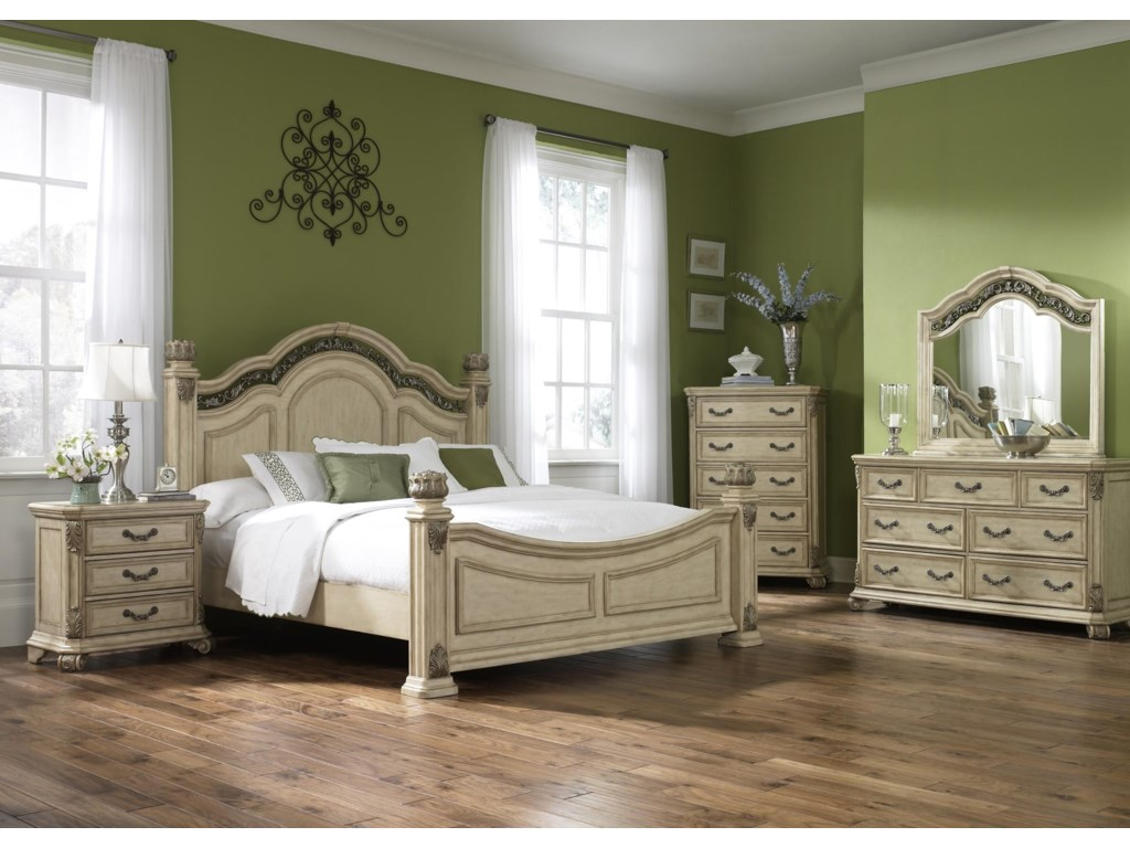 Shown with Night Stand, Bed, Chest, and Mirror
