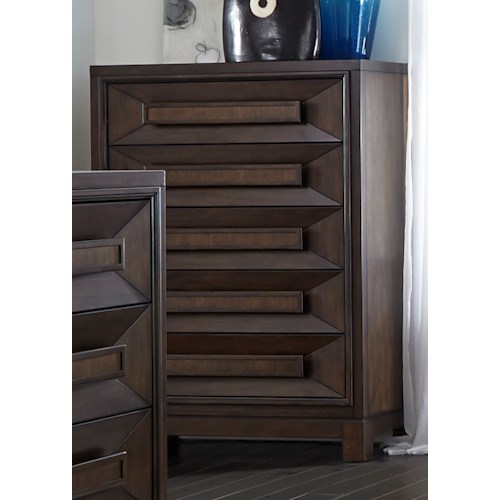 Liberty Furniture Midtown Bedroom 5 Drawer Chest with Chamfered Drawer Fronts