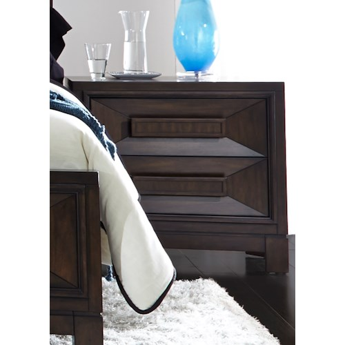 Liberty Furniture Midtown Bedroom 2 Drawer Night Stand with Chamfered Drawer Fronts