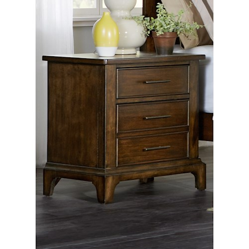Liberty Furniture Mill Creek 458 Night Stand with Three Dovetail Drawers