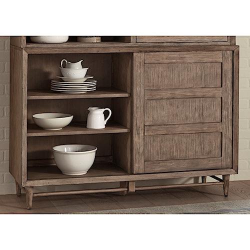 Liberty Furniture Miramar One Door Buffet with Adjustable Shelves