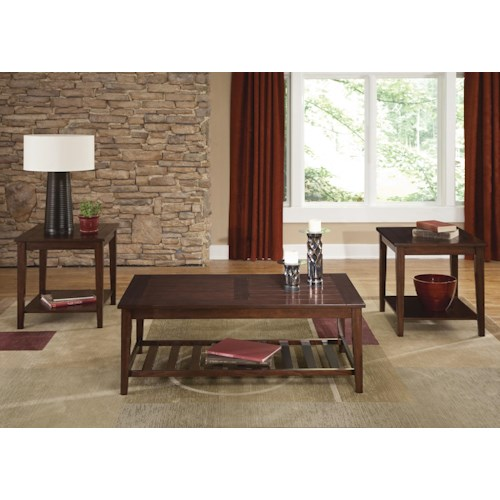 Liberty Furniture Missoula 3-Piece Plank Style Table Set