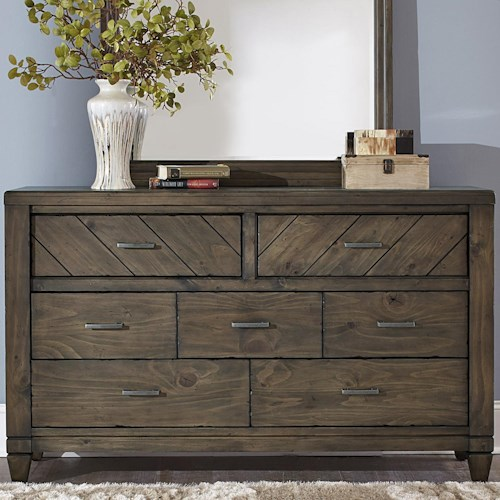 Liberty Furniture Modern Country Casual Rustic 7 Drawer Dresser