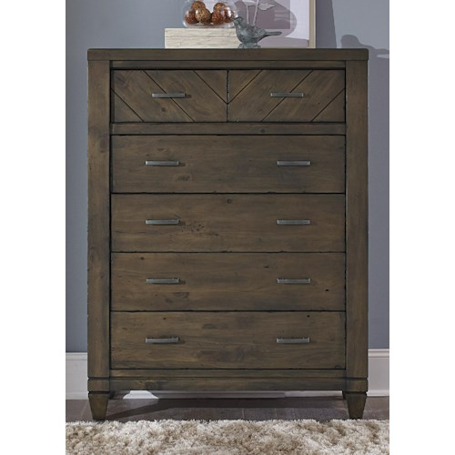 Liberty Furniture Modern Country Casual Rustic 6 Drawer Chest