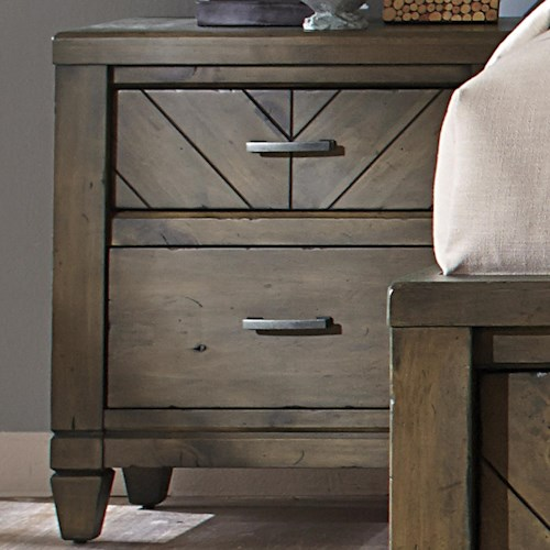 Vendor 5349 Modern Country Casual Rustic 2 Drawer Night Stand