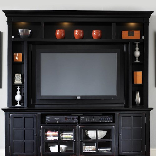 Liberty Furniture New Generation Entertainment Hutch with Interior Lighting