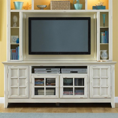 Liberty Furniture New Generation Coastal Style Entertainment Console with Storage