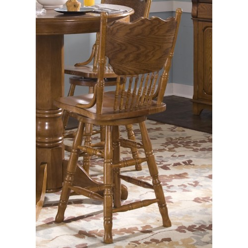 Liberty Furniture Nostalgia  Mission 24 Inch Press Back Barstool
