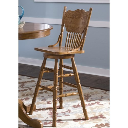 Liberty Furniture Nostalgia  Mission 30 Inch Press Back Barstool