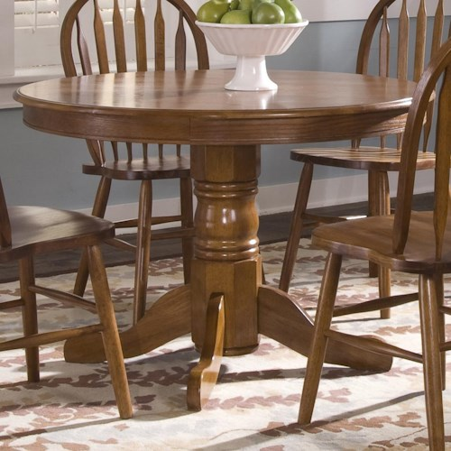 Liberty Furniture Nostalgia  Round Pedestal Dining Table