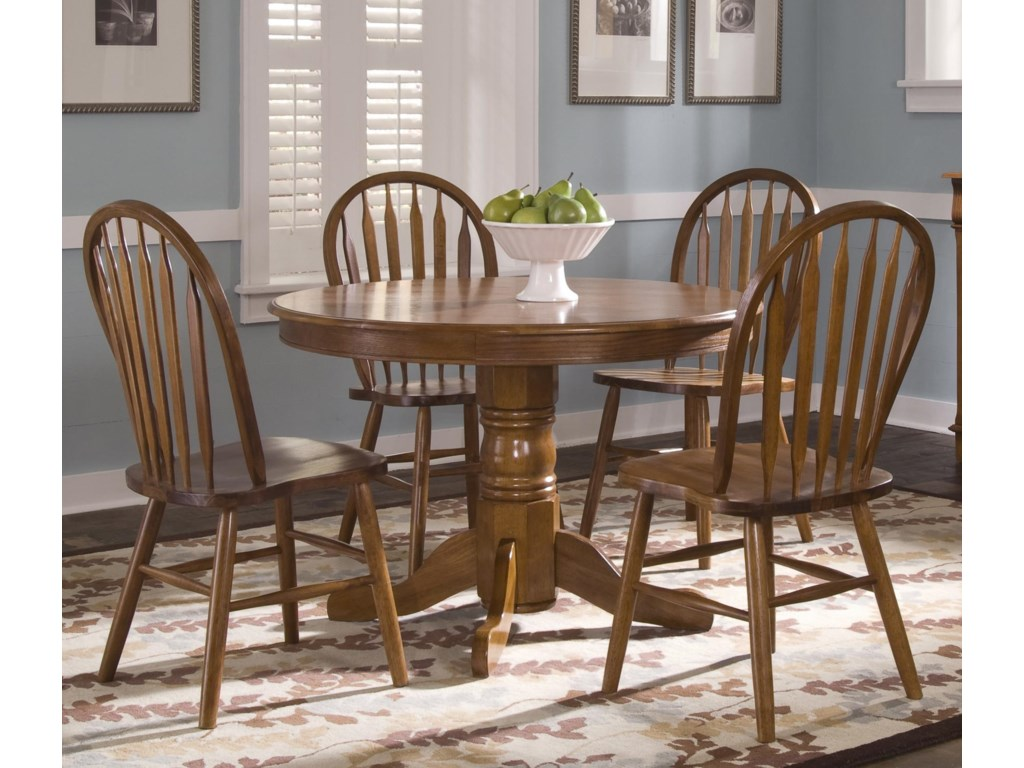 Shown with Arrow Back Windsor Side Chairs