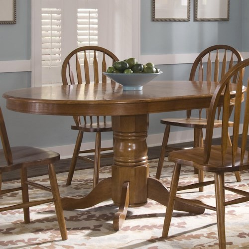 Liberty Furniture Nostalgia  Oval Pedestal Dinner Table