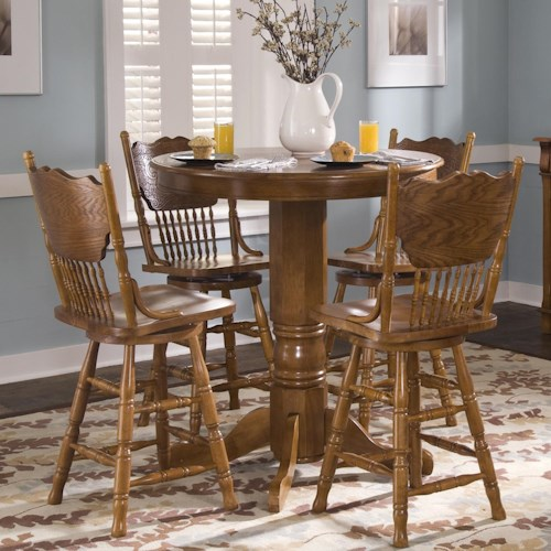 Liberty Furniture Nostalgia  5-Piece Round Pub Table Set