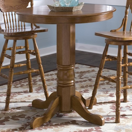 Liberty Furniture Nostalgia  Round Oak Pub Table