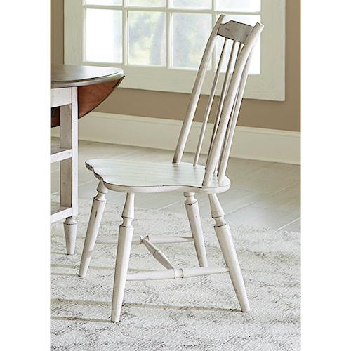 Vendor 5349 Oak Hill Dining Windsor Back Side Chair