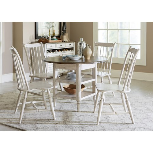 Vendor 5349 Oak Hill Dining 5 Piece Drop Leaf Table Set