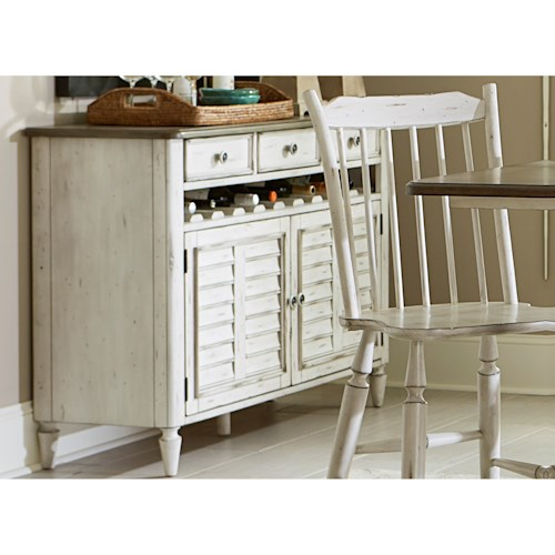Liberty Furniture Oak Hill Dining Dining Server with Bottle Storage