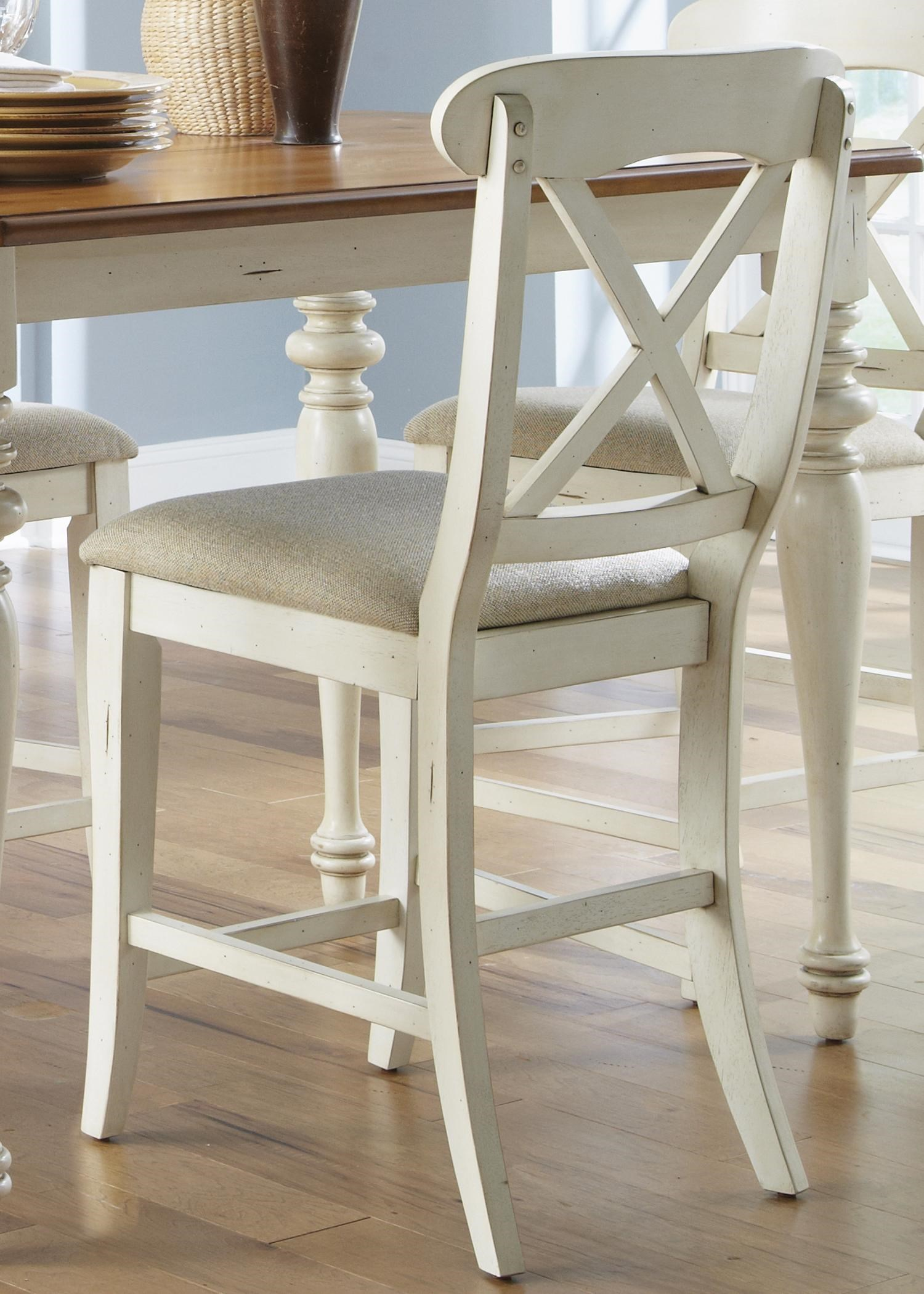 liberty furniture ocean isle xback counter height dining chair with upholstered seat - Counter Height Chairs