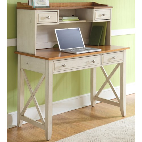 Liberty Furniture Ocean Isle  Writing Desk and Hutch Set