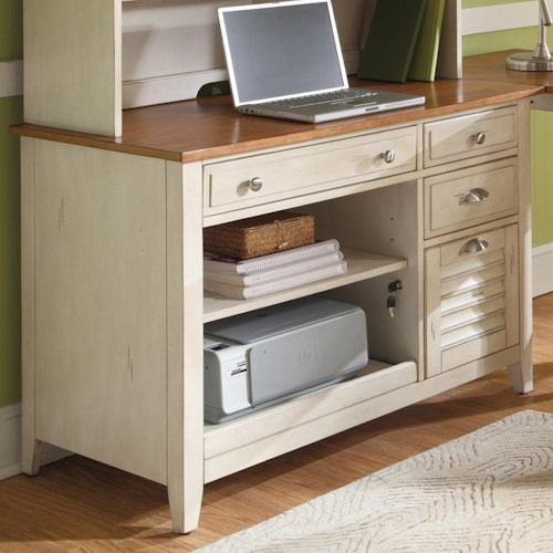 Liberty Furniture Ocean Isle  Computer Credenza with Flip Down Keyboard Tray