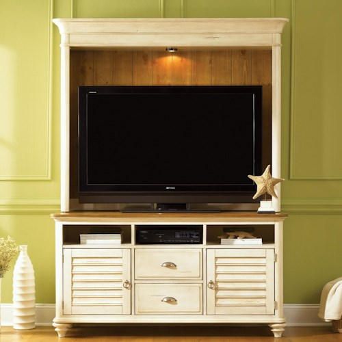 Vendor 5349 Ocean Isle  Entertainment Unit w/ Hutch