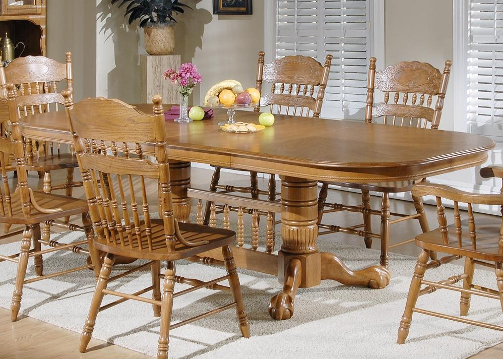 Shown with Double Pedestal Table and Arm Chairs