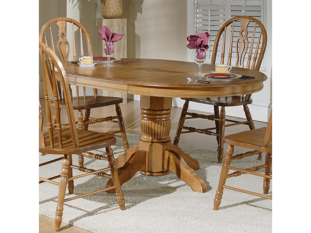 Old World Dining Room Sets Vendor 5349 Old World Casual Dining Oval Pedestal Table Amp Windsor