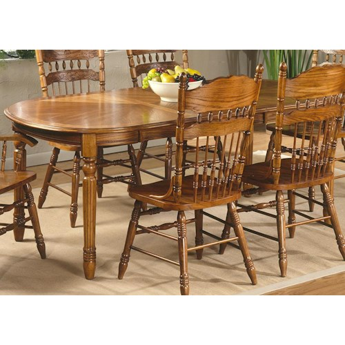 Vendor 5349 Old World Casual Dining 7 Pc. Oval Leg Table with 2 Arm & 4 Side Chairs