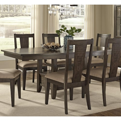 Vendor 5349 Patterson Rectangle Dining Table with Storage Pedestal