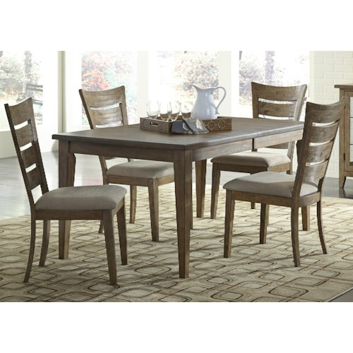 Liberty Furniture Pebble Creek 5 Piece Rectangular Table Set