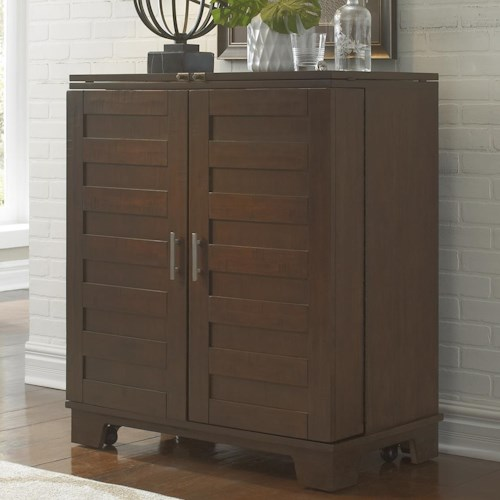 Liberty Furniture Pebble Creek Wine Cabinet with Fully Stained Interior Drawers