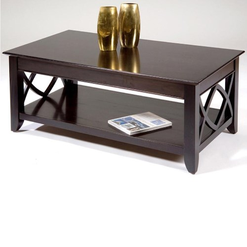 Liberty Furniture Piedmont Rectangular Cocktail Table with Bottom Shelf