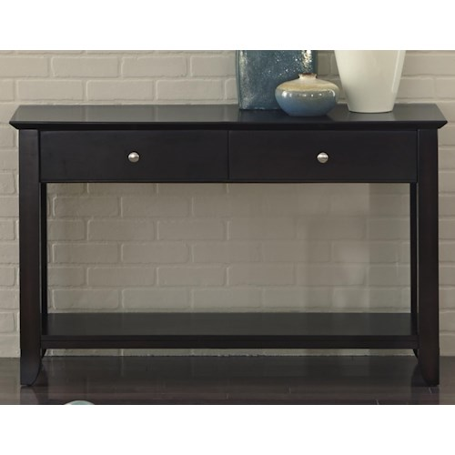 Liberty Furniture Piedmont Sofa Table with 2 Drawers and 1 Shelf
