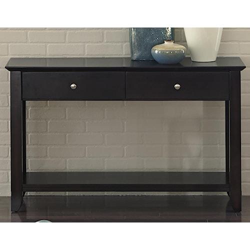 Vendor 5349 Piedmont Sofa Table with 2 Drawers and 1 Shelf